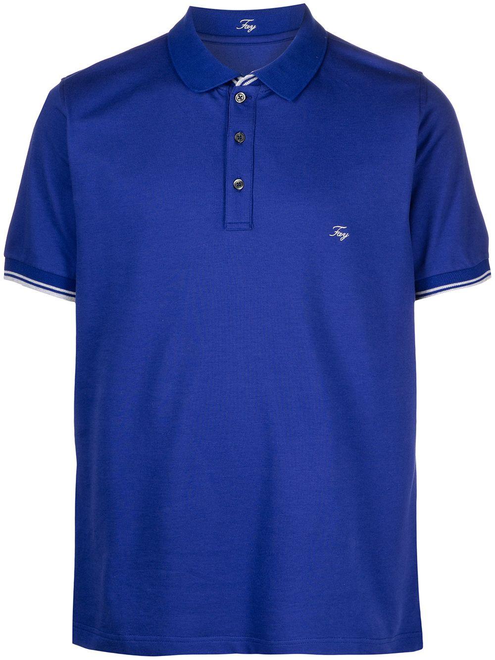FAY- Cotton Polo- Man- Xxl - Blue