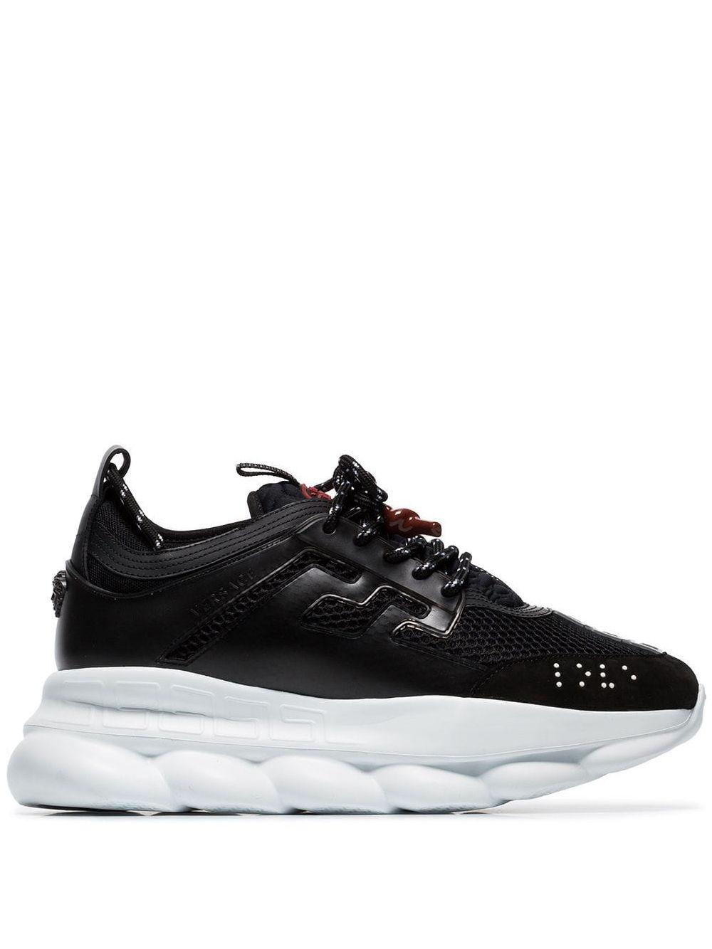 VERSACE- Versace Sneakers Black- Man- 40 - Black