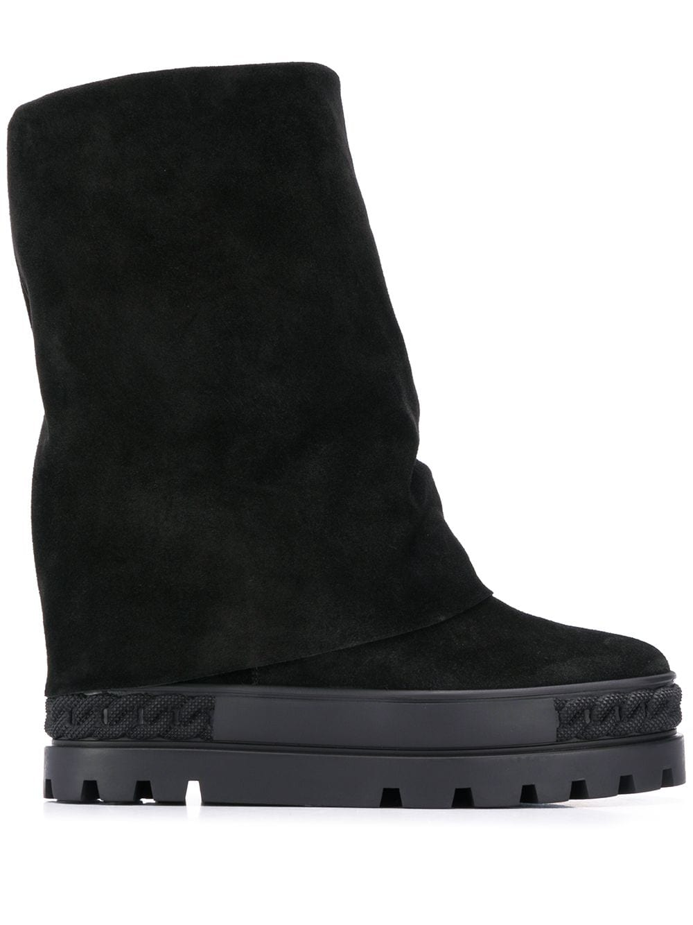 CASADEI- Suede Leather Boots- Woman- 40 - Black