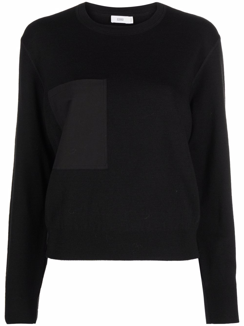 CLOSED- Patch-pocket Knittet Top- Woman- Xs - Black