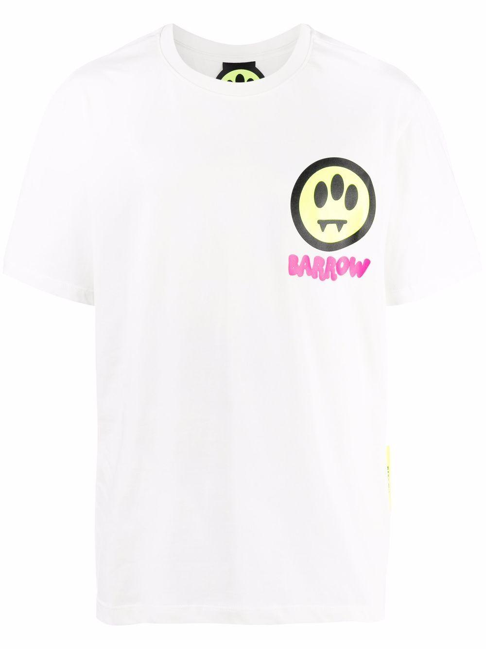 BARROW- Cotton Logo T-shirt- Man- M - White