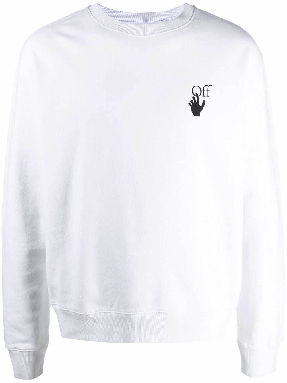 OFF-WHITE- Caravaggio Lute Cotton Sweatshirt- Man- S - White