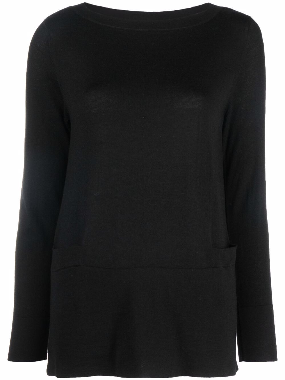 SNOBBY SHEEP- Cashmere Blend Boat Neck Sweater- Woman- 44 - Black
