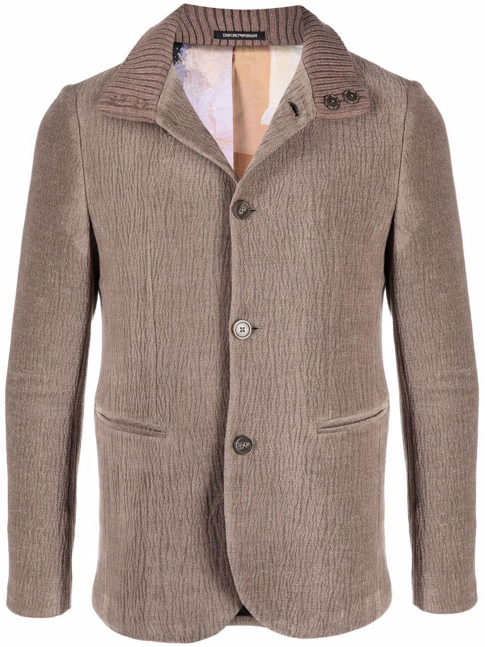 EMPORIO ARMANI- Cotton Blazer- Man- 52 - Beige