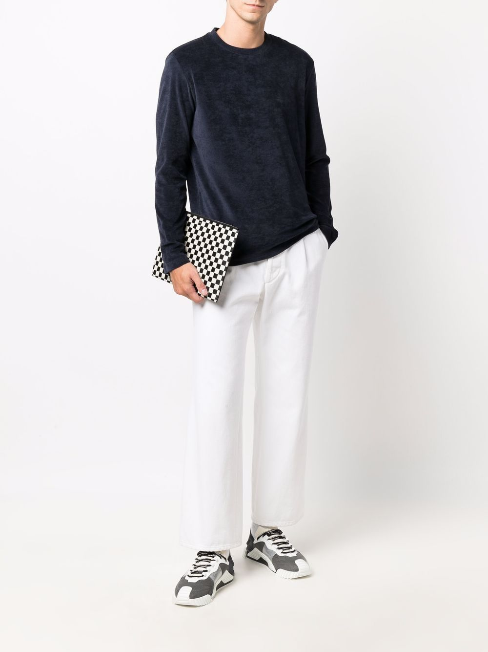 T-shirt a manica lunga in cotone - Emporio Armani