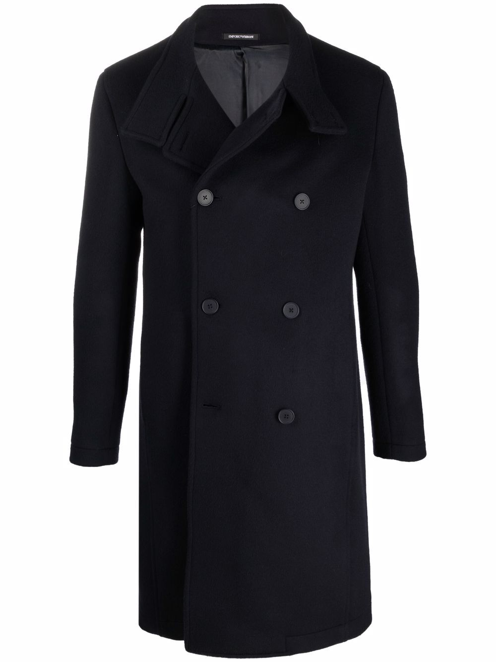 EMPORIO ARMANI- Wool Coat- Man- 54 - Blue