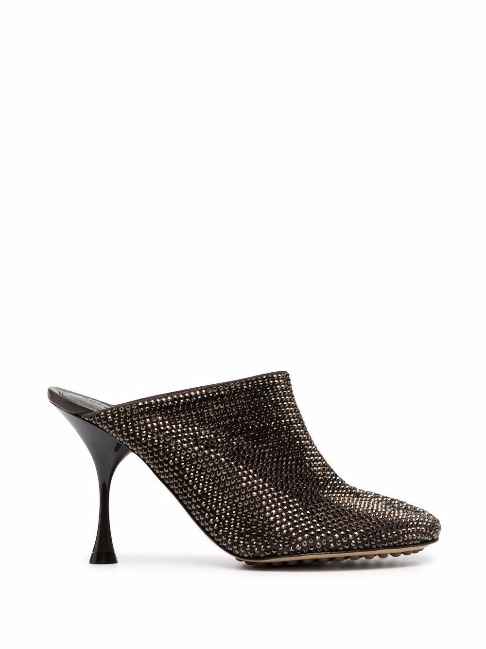 BOTTEGA VENETA- Sparkle Dot Sock Mules- Woman- 39 - Brown