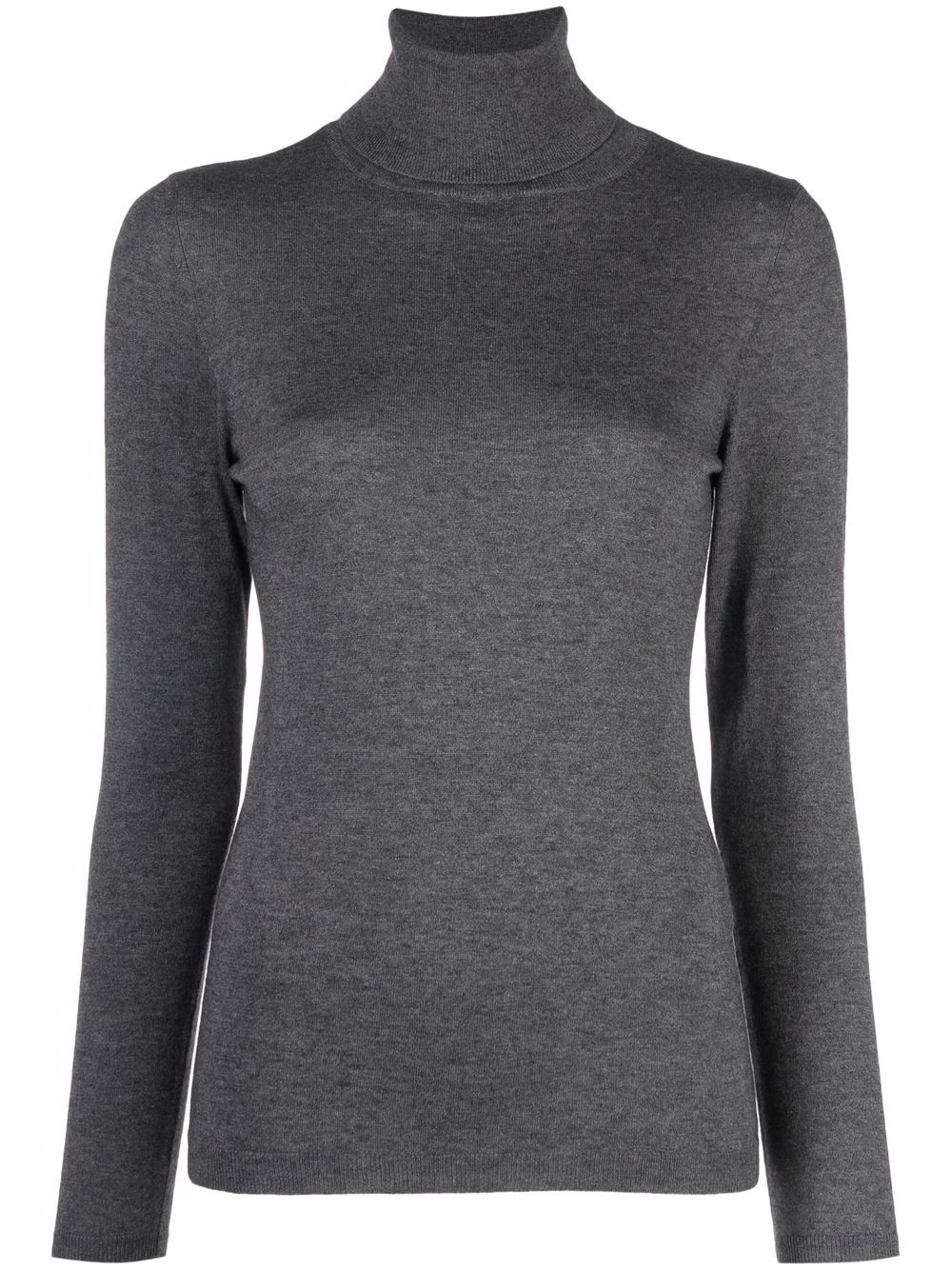 SNOBBY SHEEP- Cashmere Blend Turtle-neck Sweater- Woman- 44 - Grey
