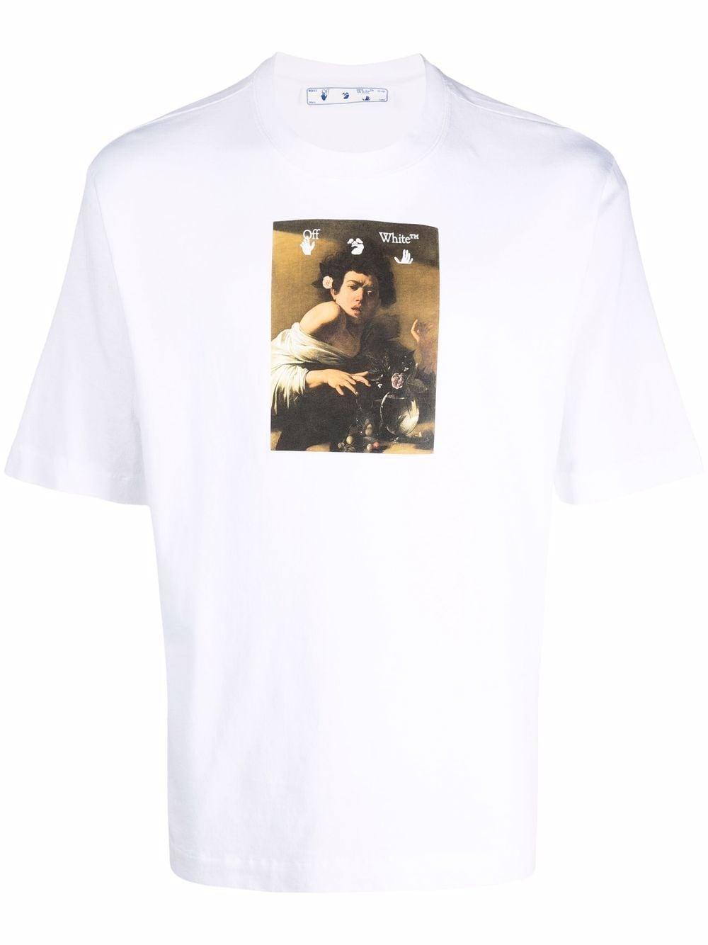 OFF-WHITE- Printed & T-shirt- Man- L - White