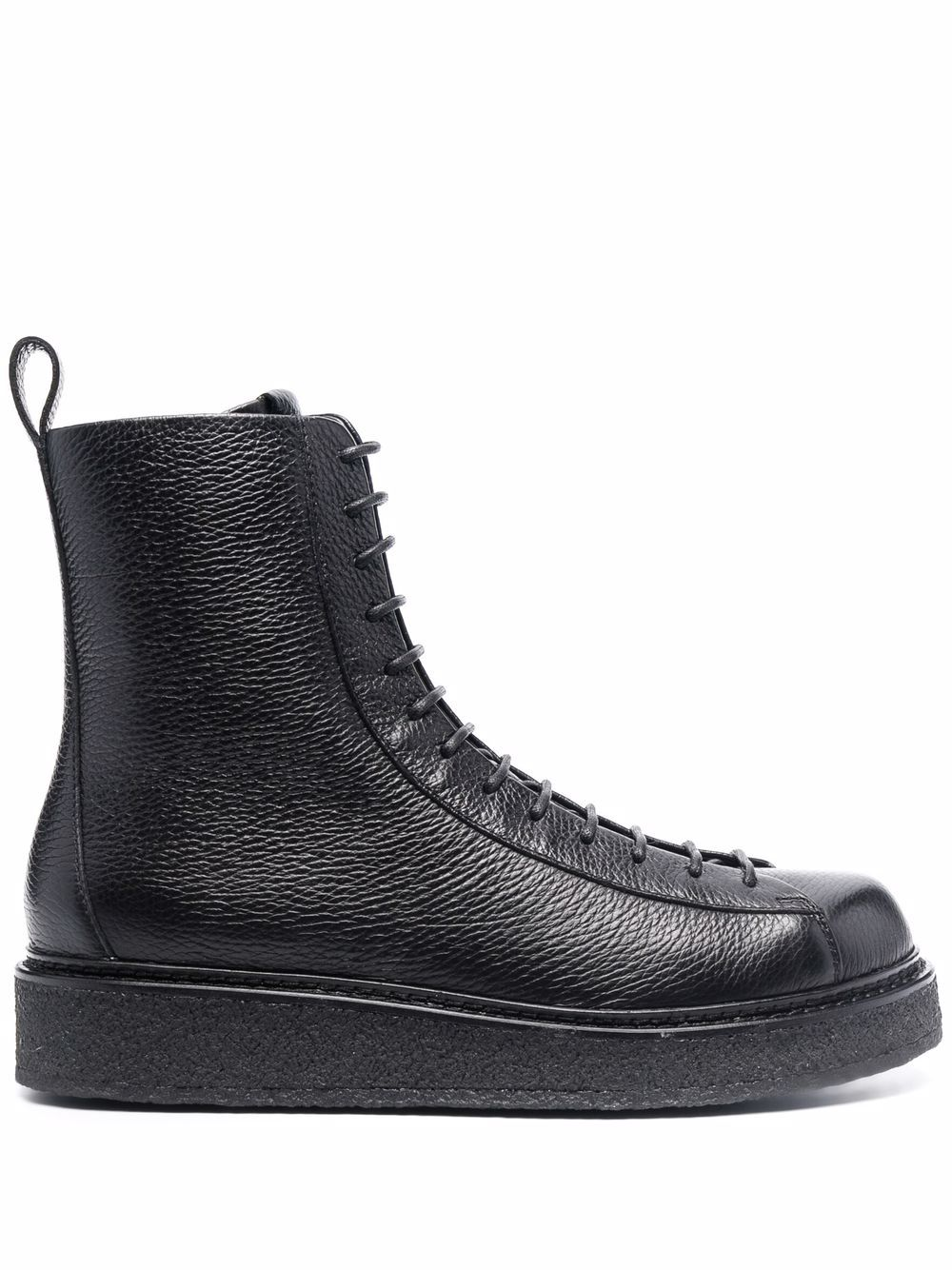EMPORIO ARMANI- Leather Ankle Boots- Man- 9 - Black