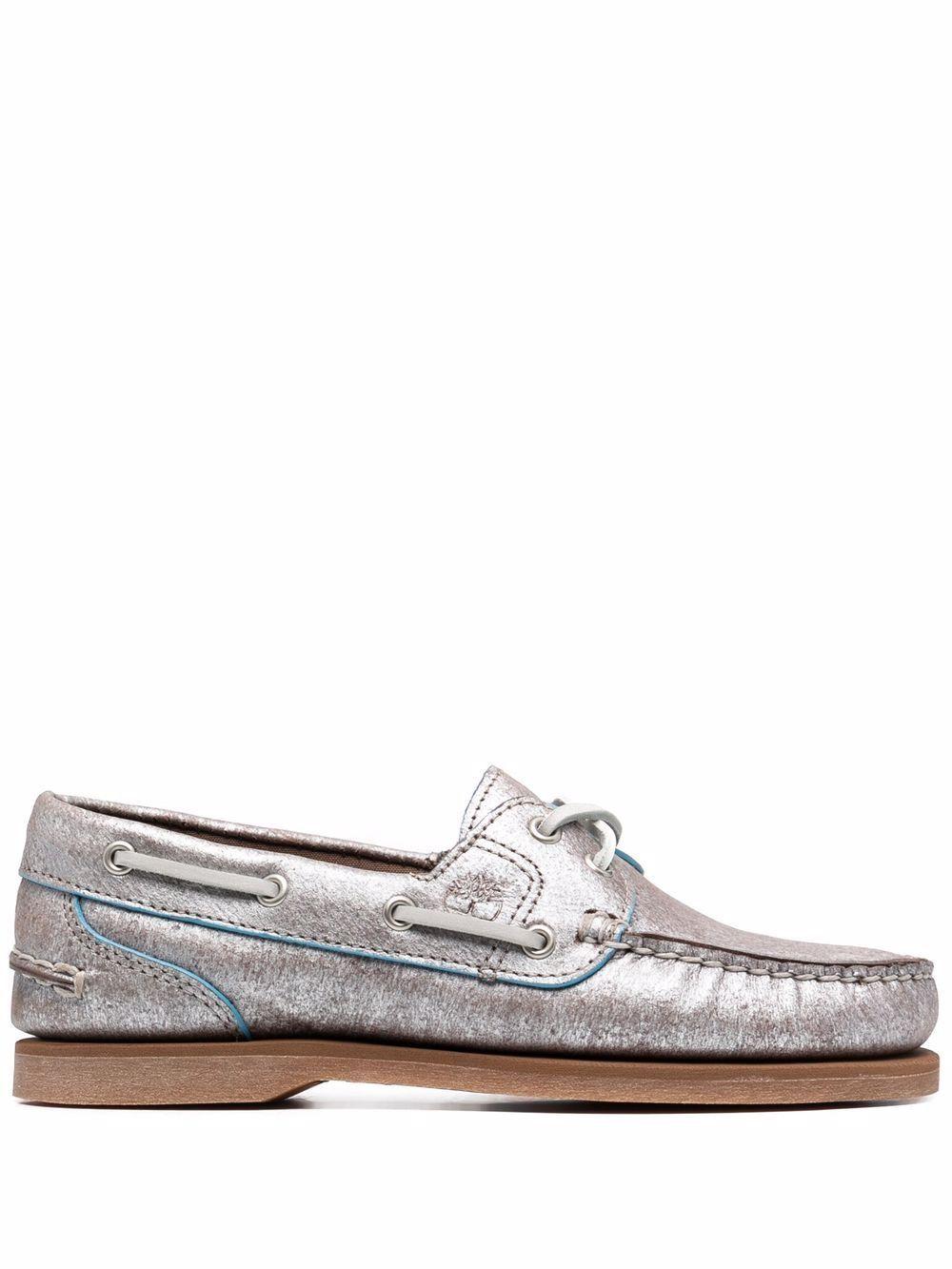 Timberland scarpe basse argento