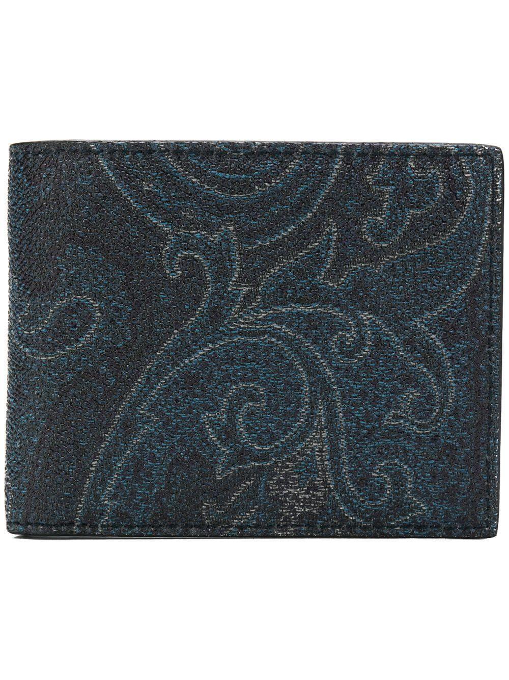Etro portafogli blu