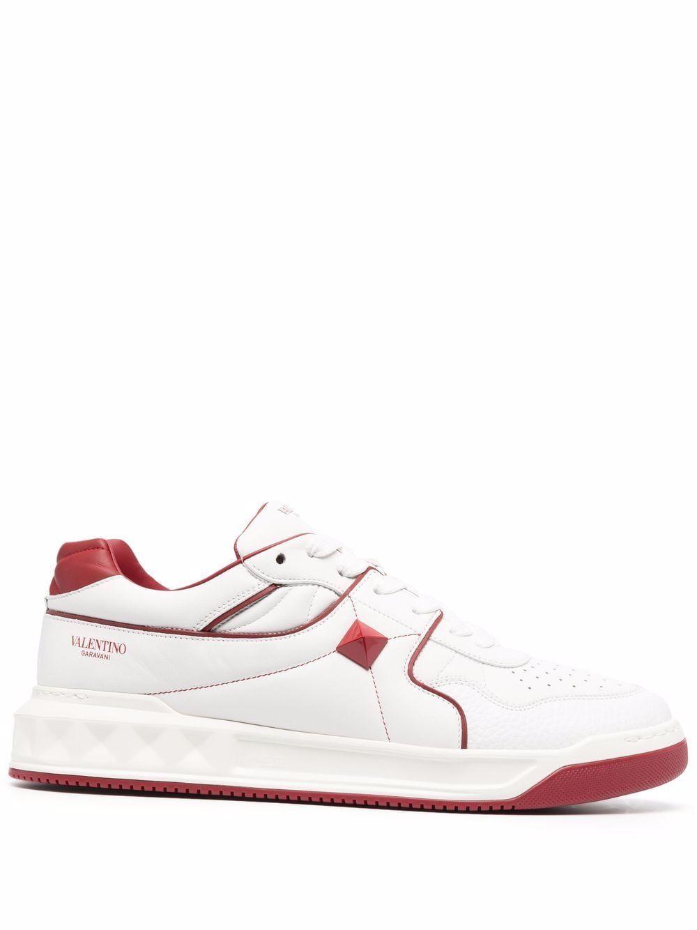 Sneakers basse roman stud in pelle