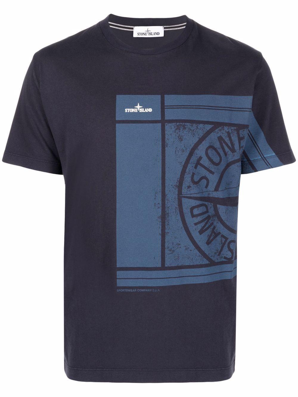 Stone island t-shirt e polo blu