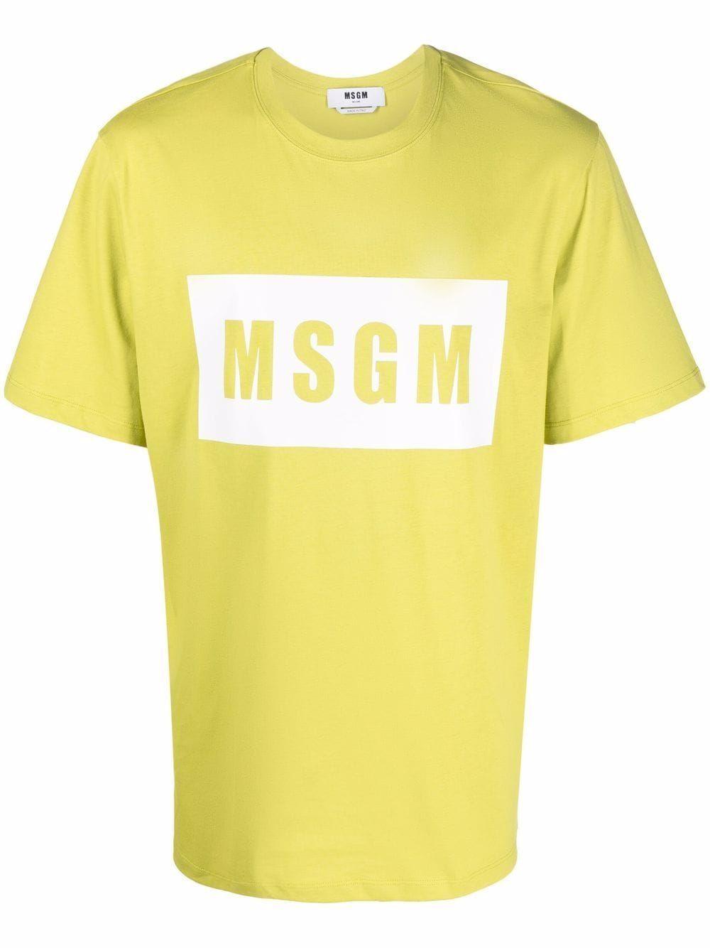 Msgm t-shirt e polo verde