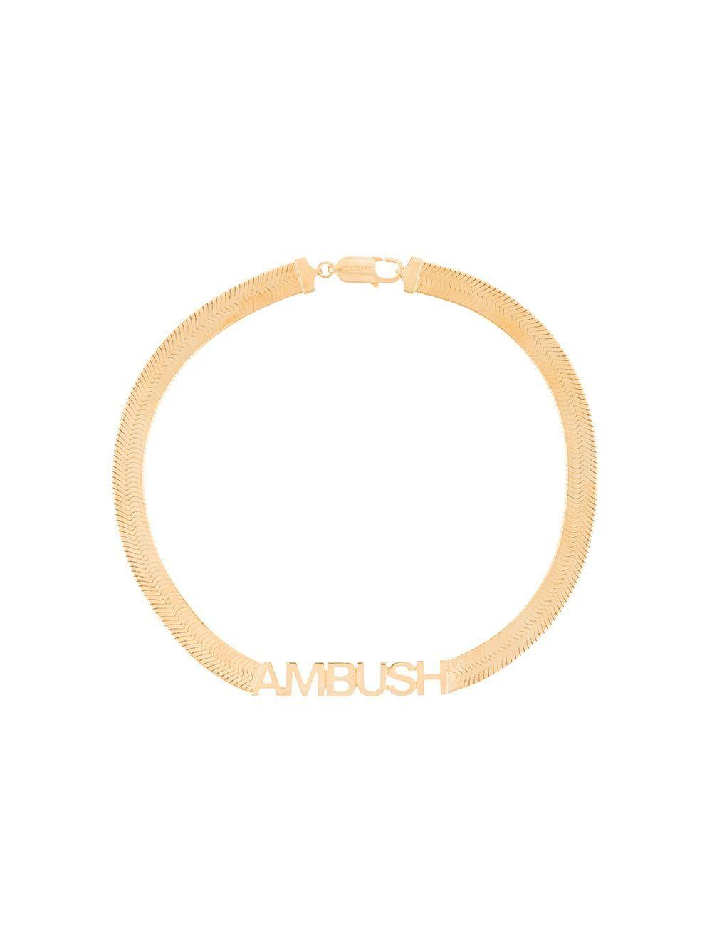 Logo herringbone necklace