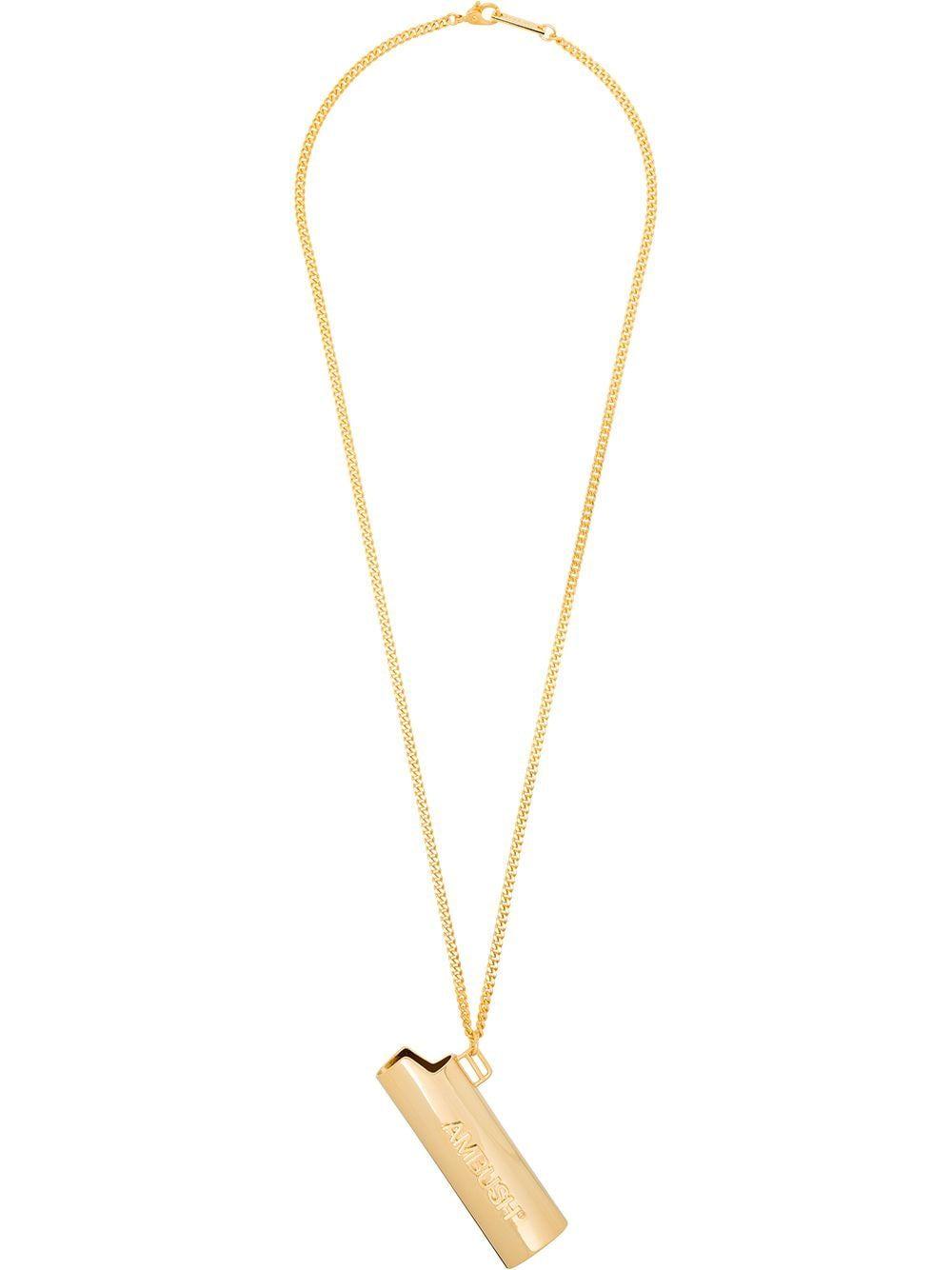 Logo lighter case necklace