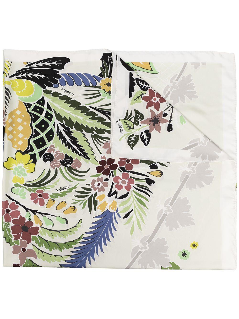 Scialle tropical world in seta