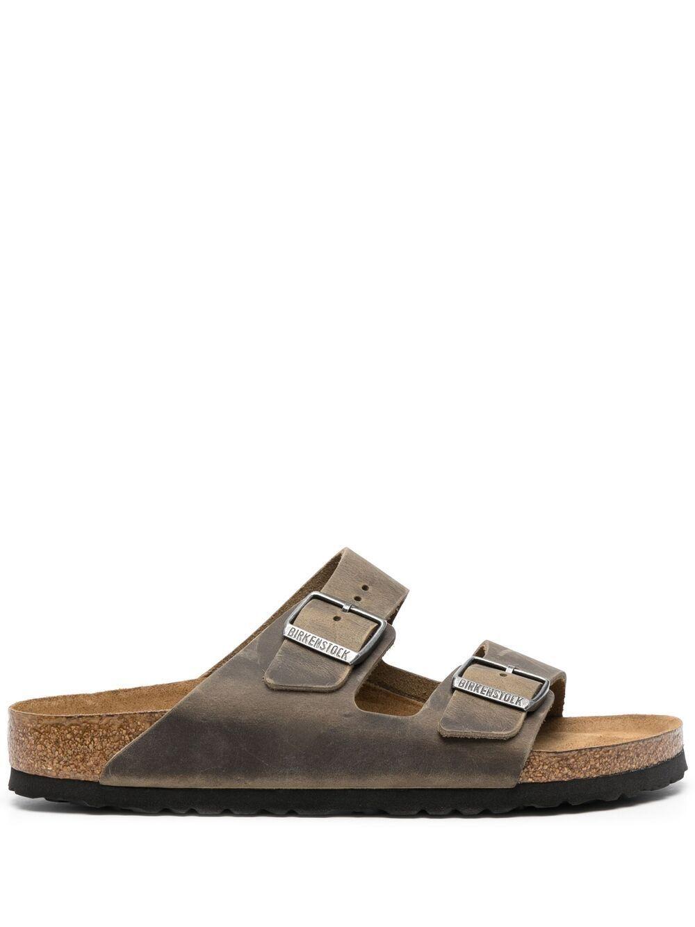 Sandalo arizona in pelle