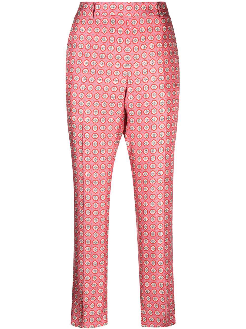 Pantalone in seta stampato