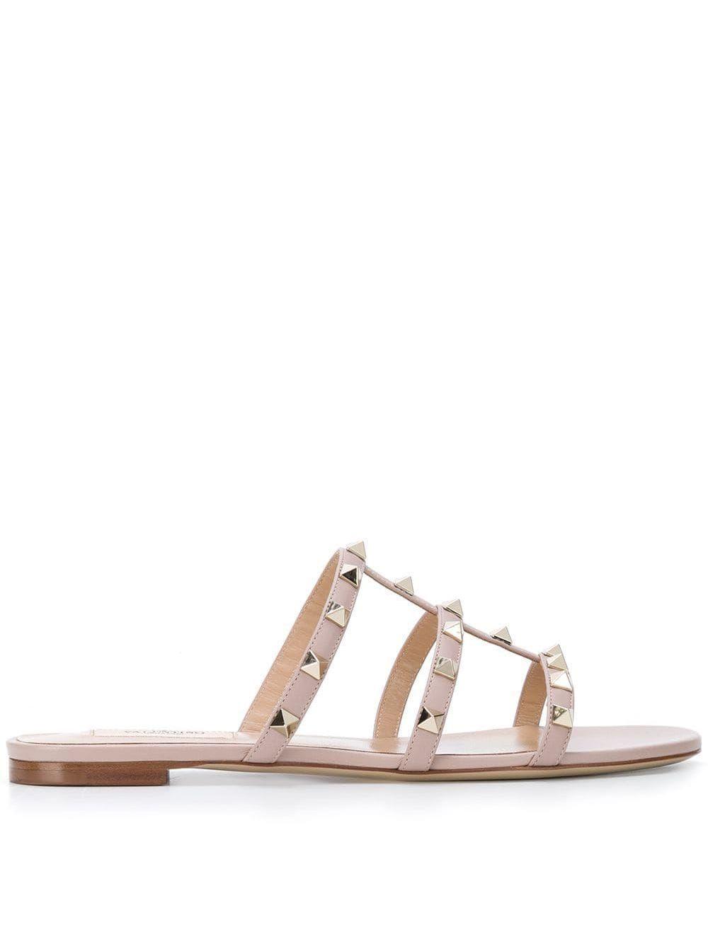 Sandalo rockstud in pelle