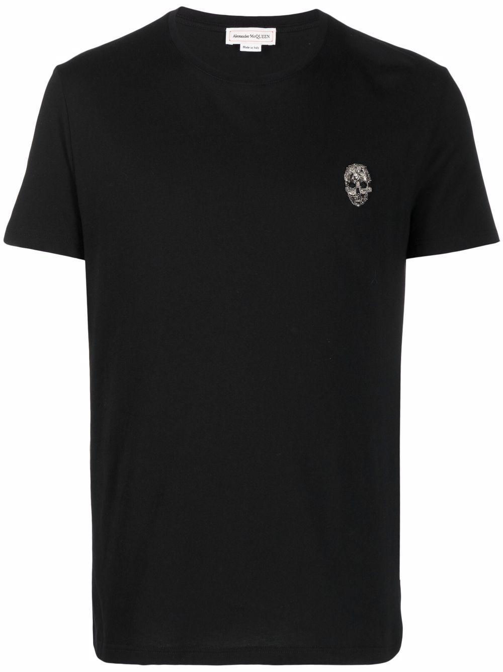 T-shirt skull in cotone