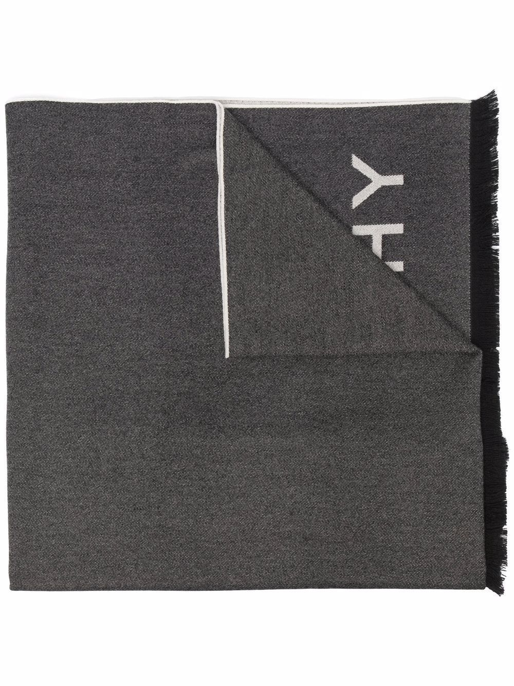 Sciarpa in misto cashmere con logo