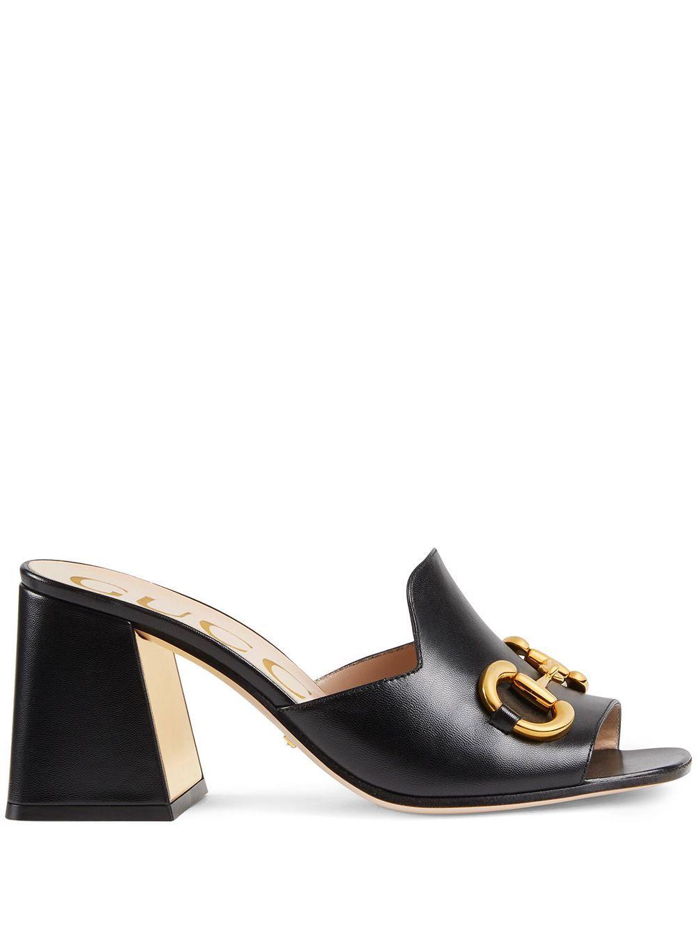 Sandalo horsebit in pelle