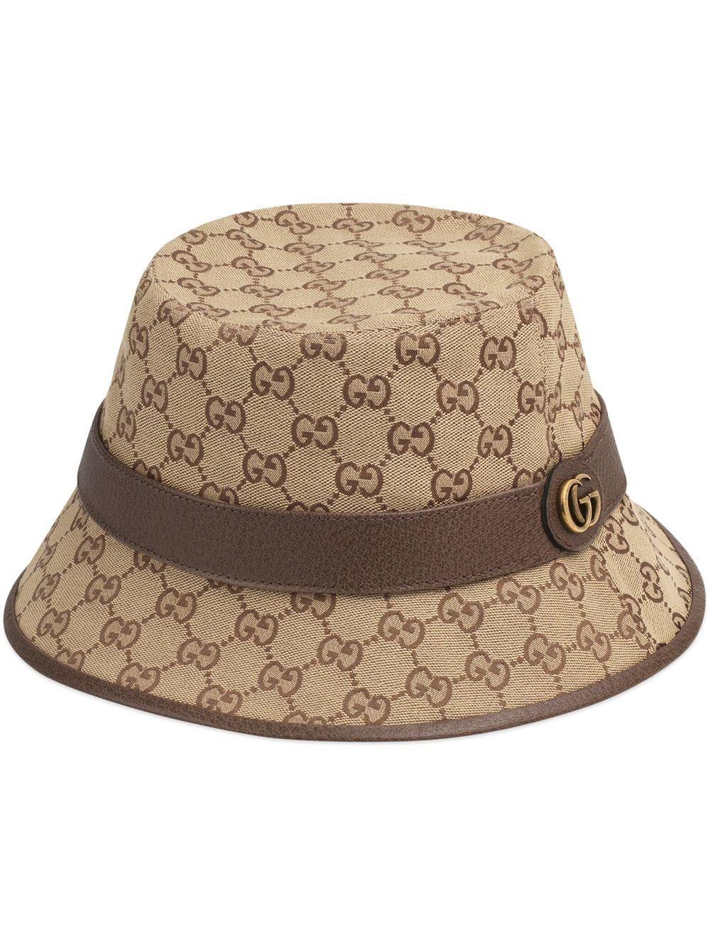 Cappello fedora in tessuto gg