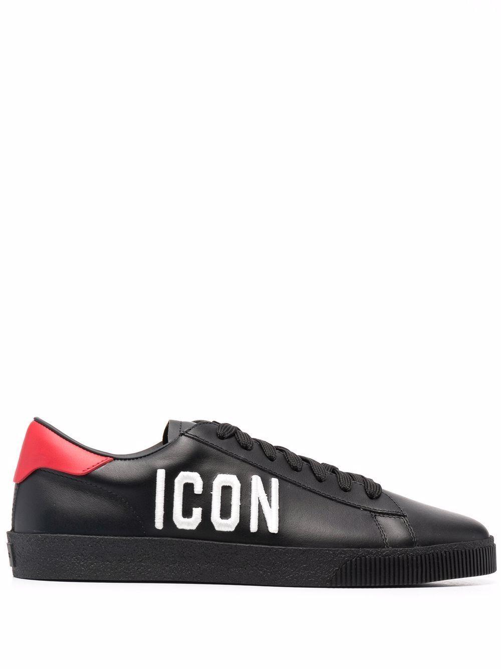 Sneaker icon in pelle