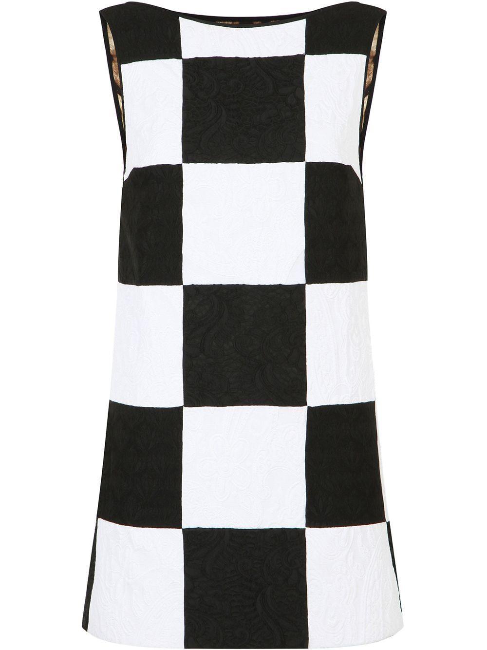 Patchwork sleeveless short dress