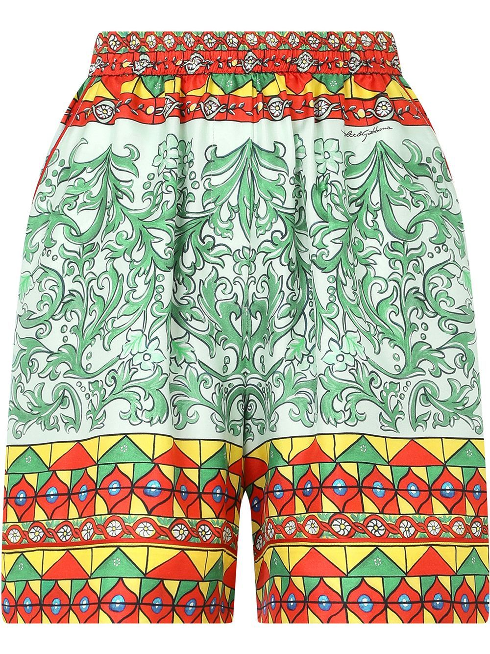 Silk high waist shorts