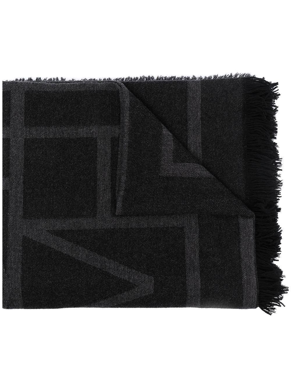 Sciarpa monogram in lana