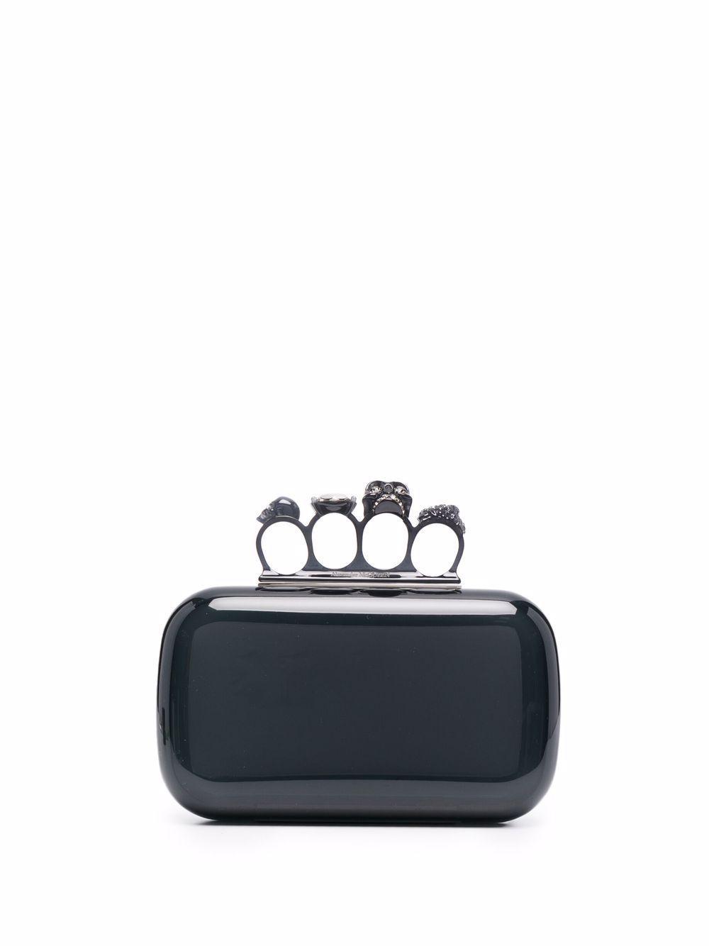 Borsa clutch four ring in pelle