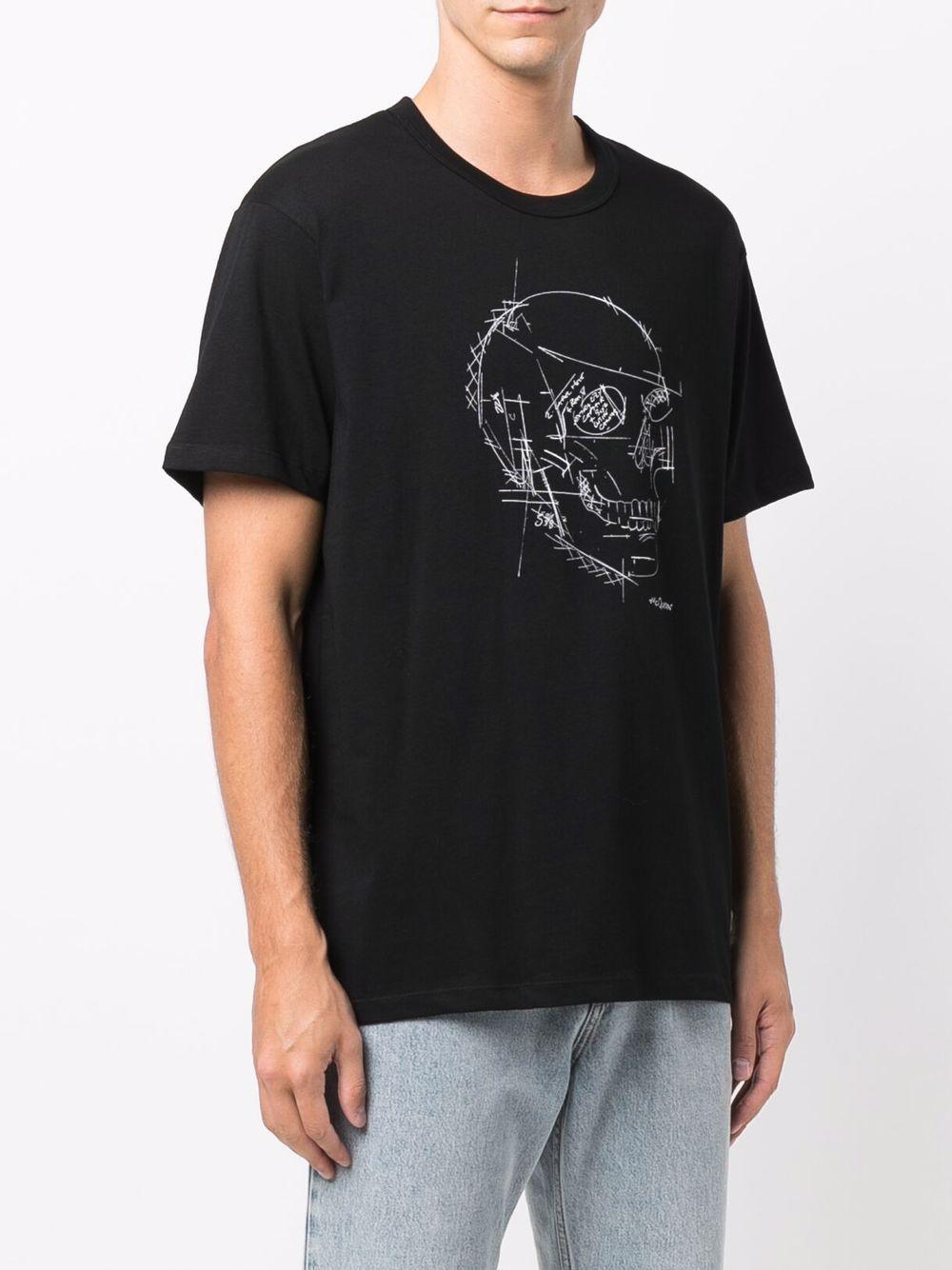 T-shirt in cotone con teschio