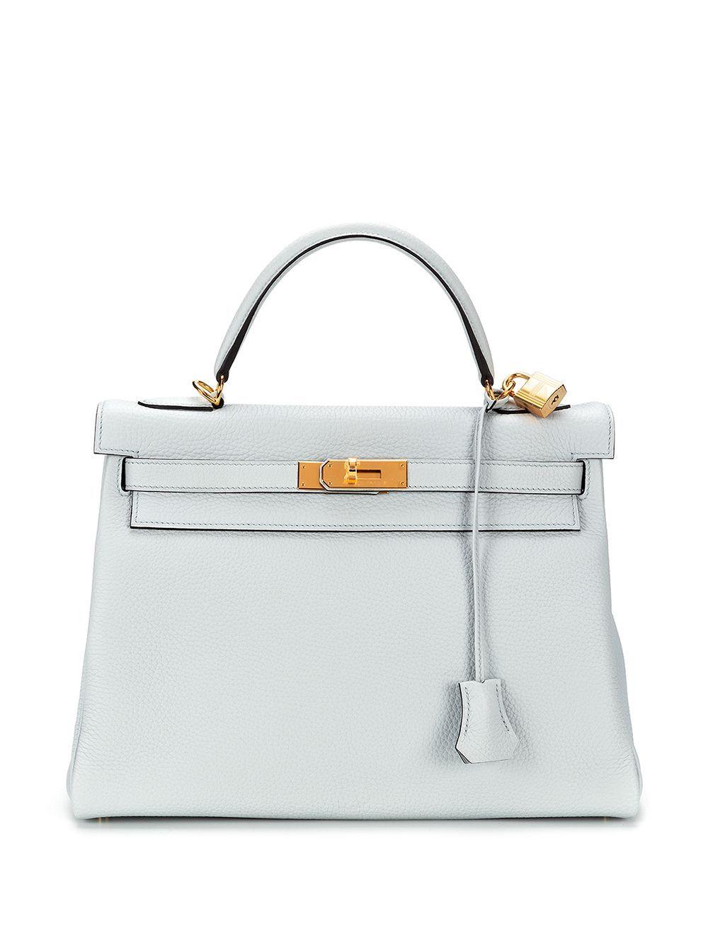 Hermes kelly 32 leather handbag