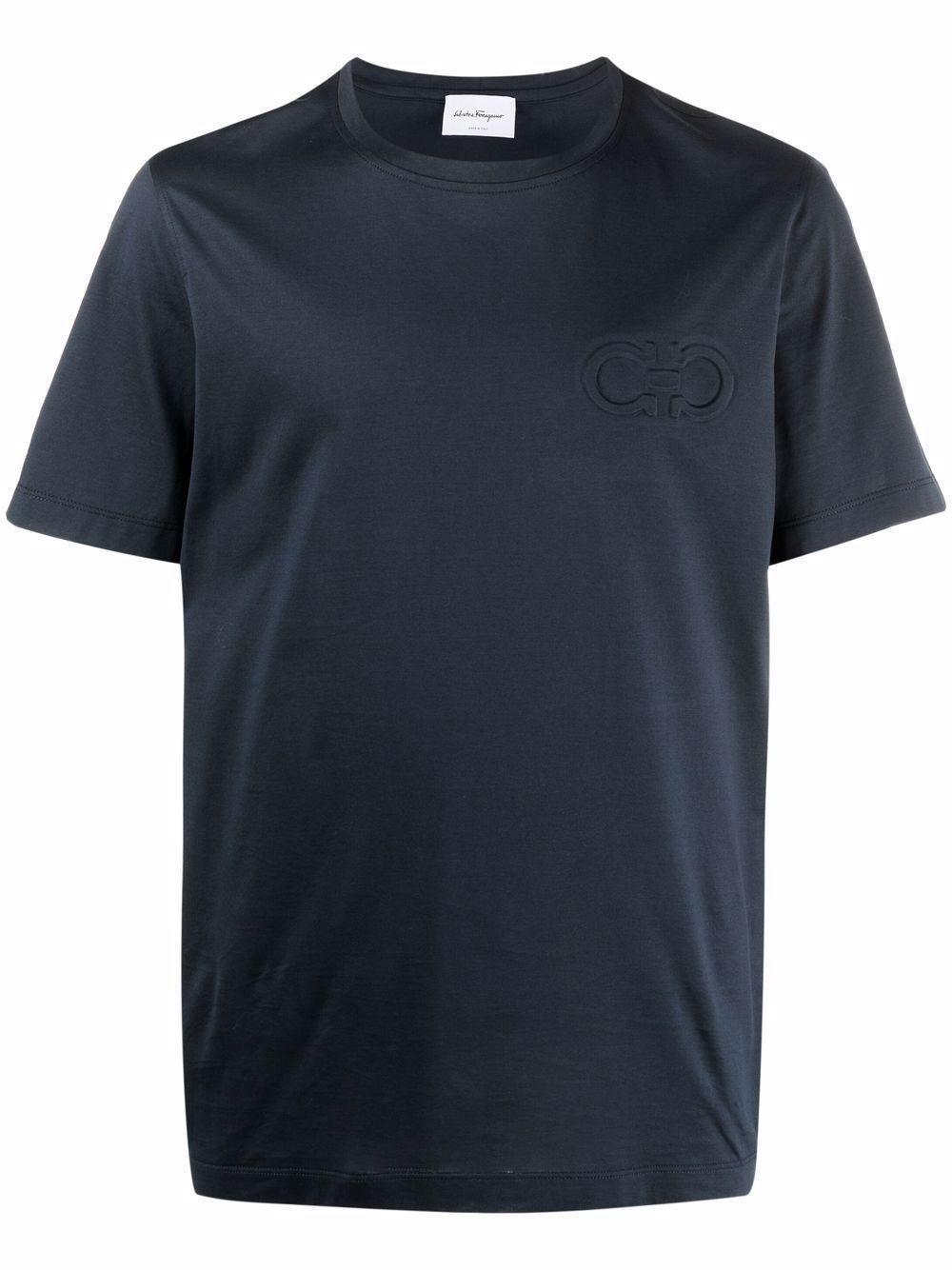 T-shirt gancio logo in cotone