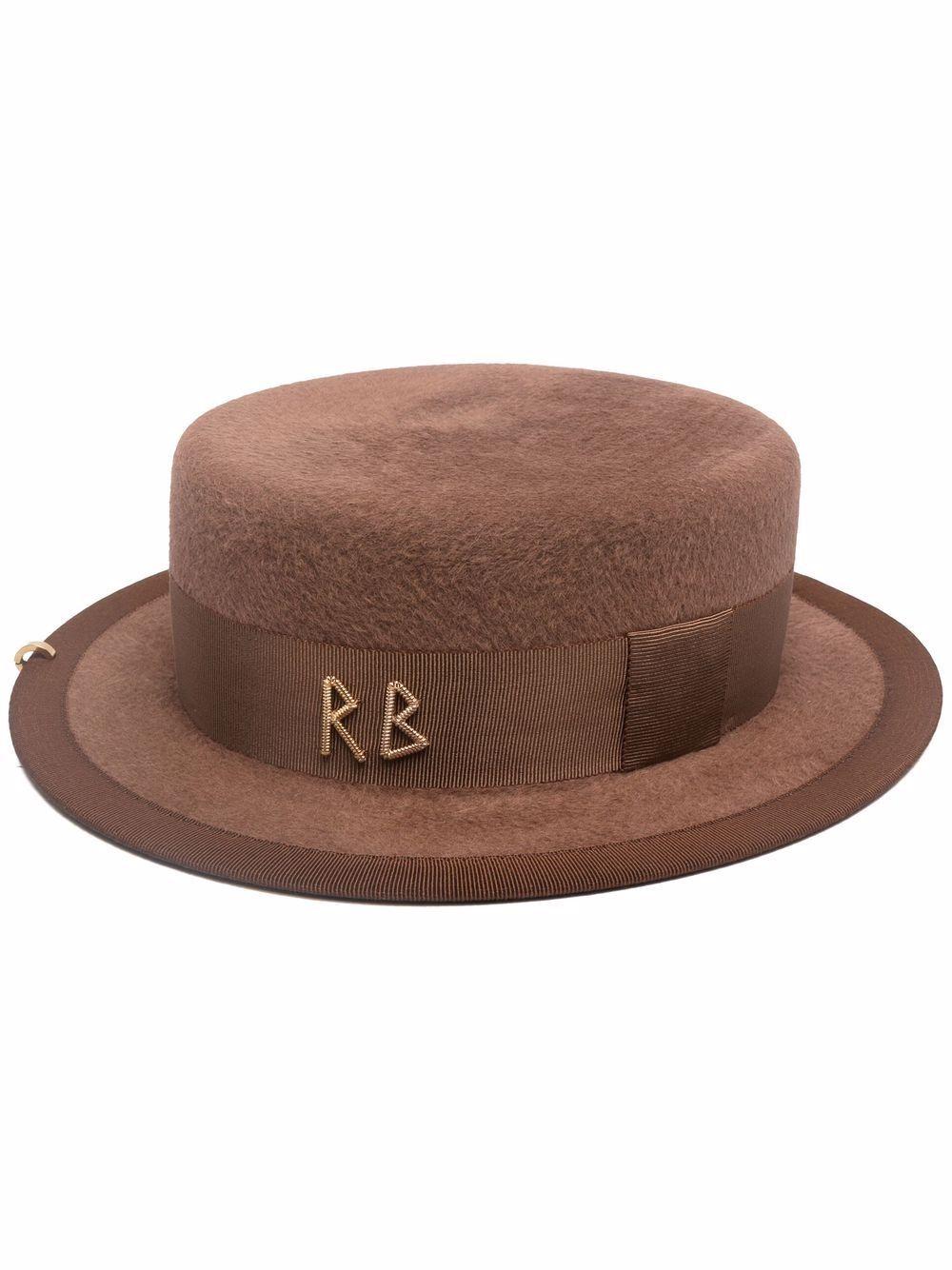 Cappello canotier in feltro