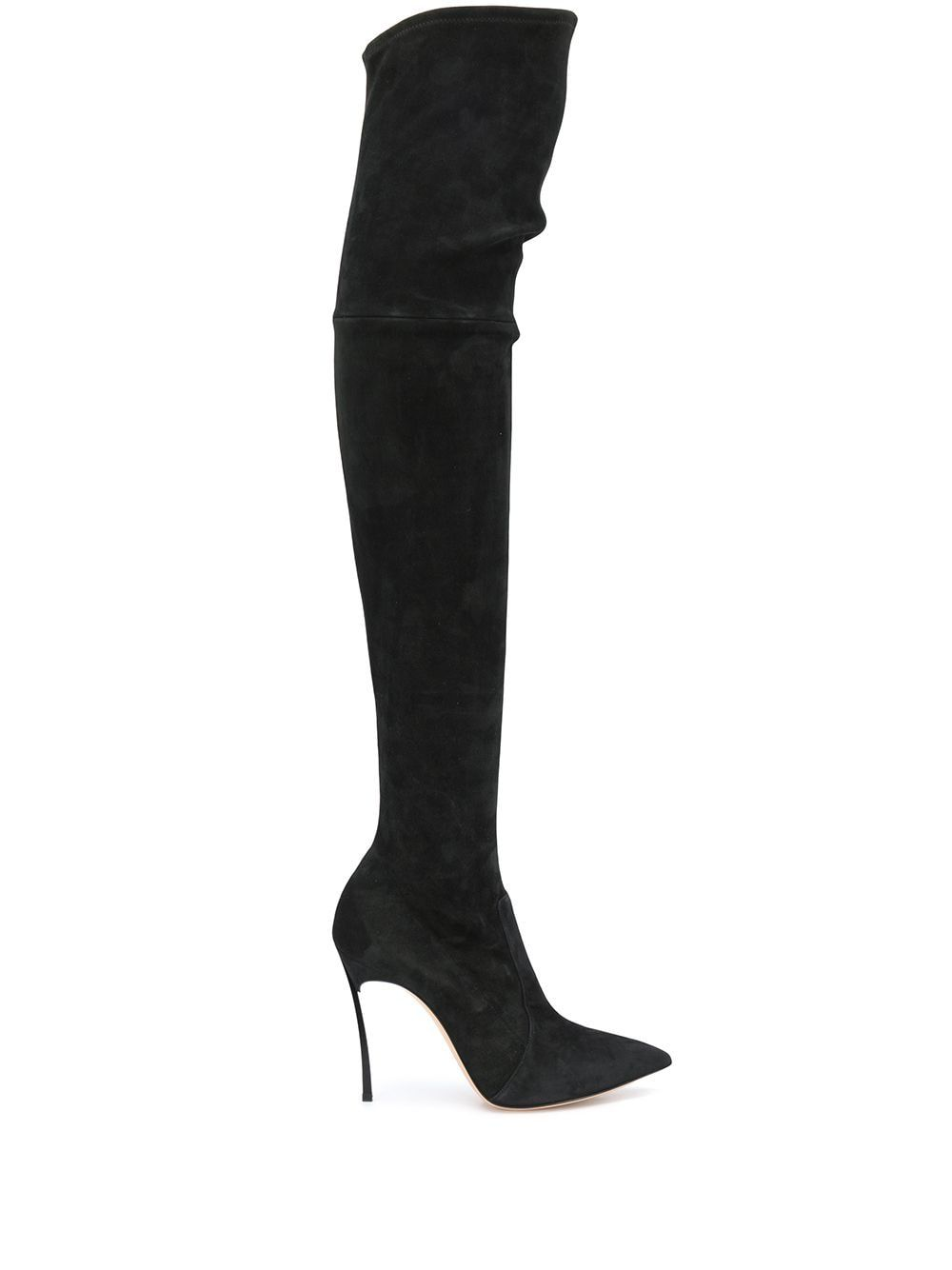 Suede leather heel boots