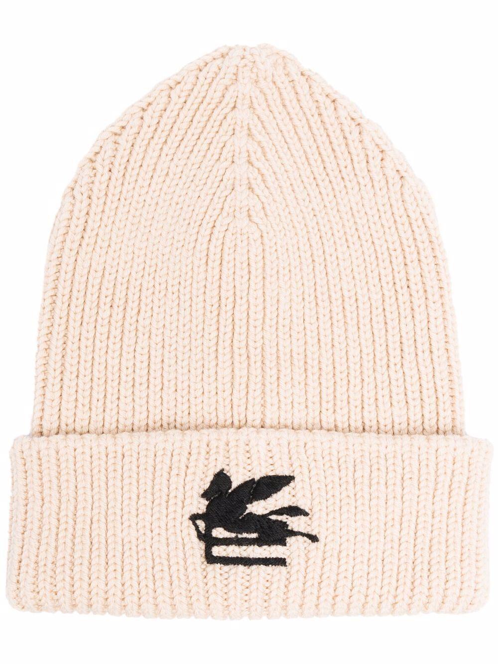 Cappello con logo in lana