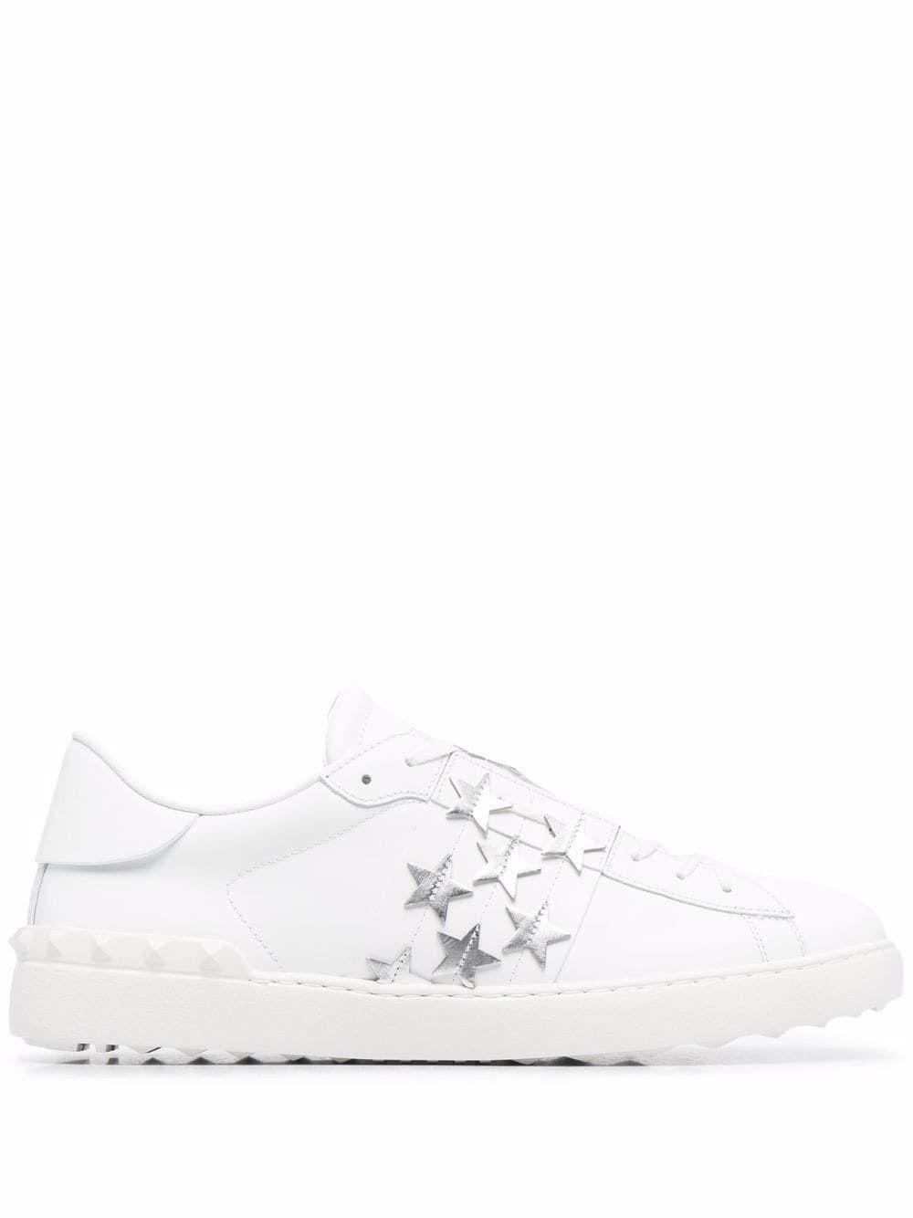Sneaker open in pelle