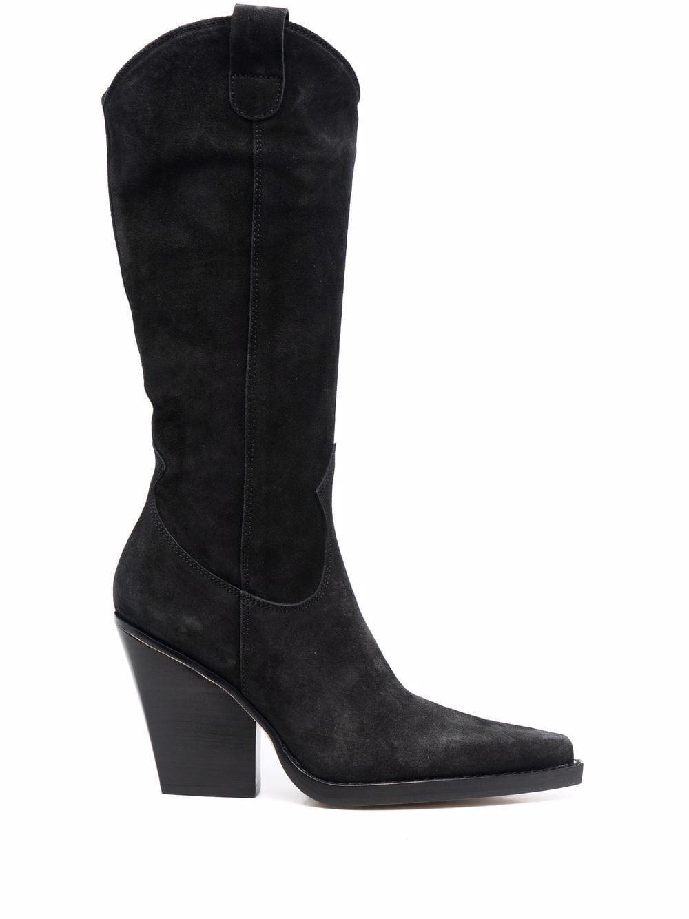 Velvet texan boots