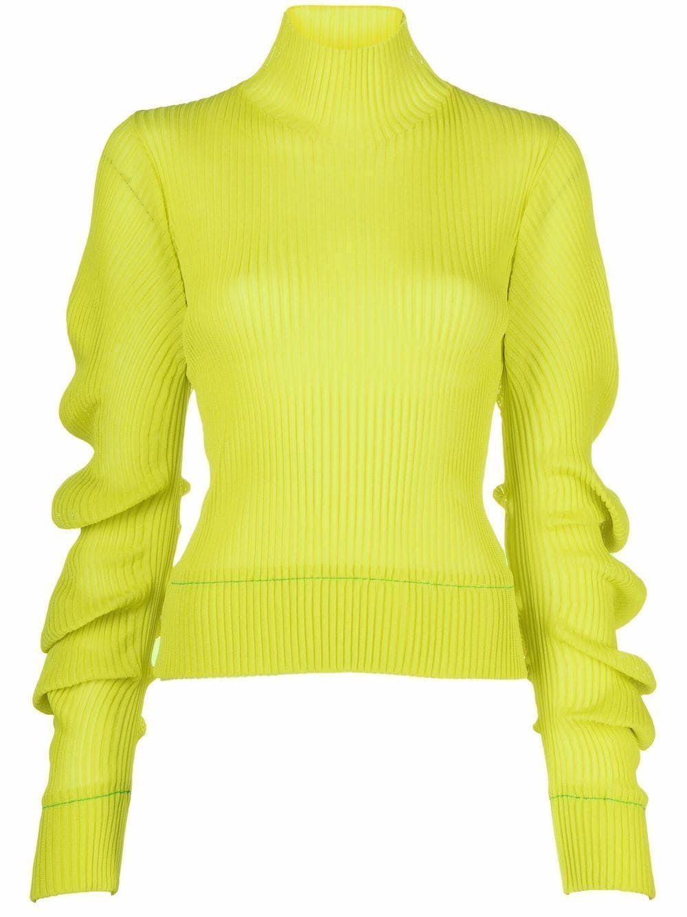 Silk turtl-neck jumper