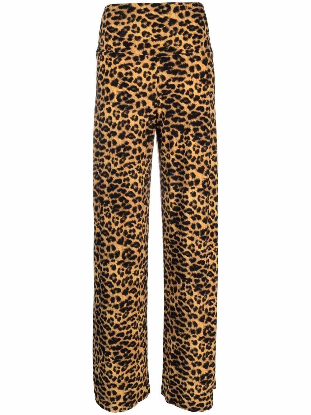 Pantalone stretto leopardato