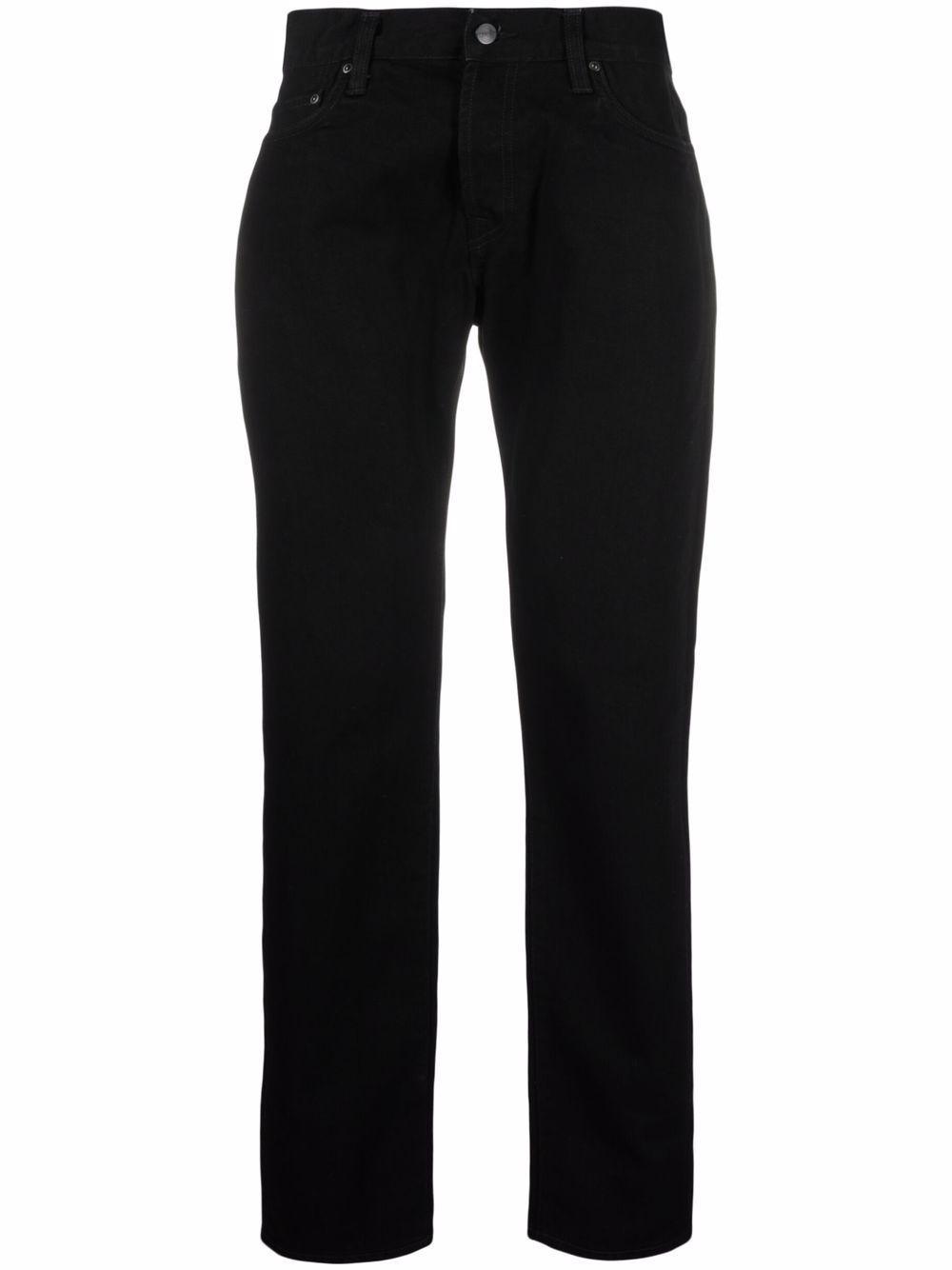 Jeans denim logato in cotone