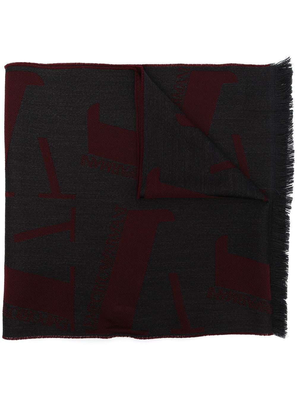 Sciarpa in lana con logo allover