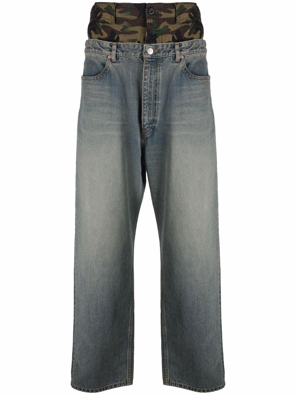 Jeans double waistband