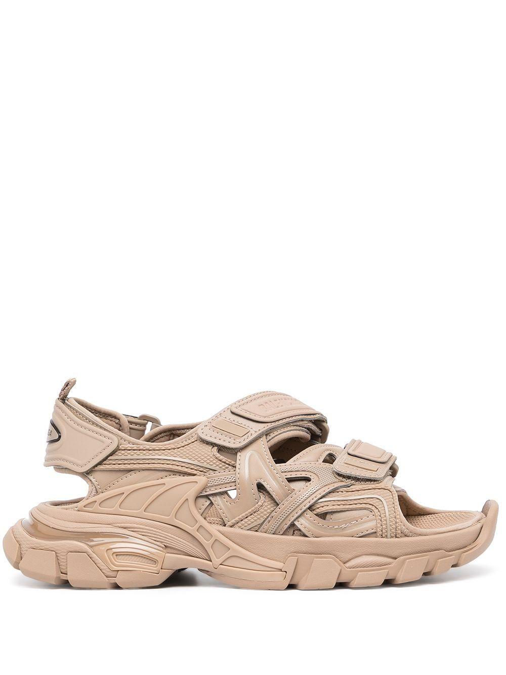 Sandalo track in pelle