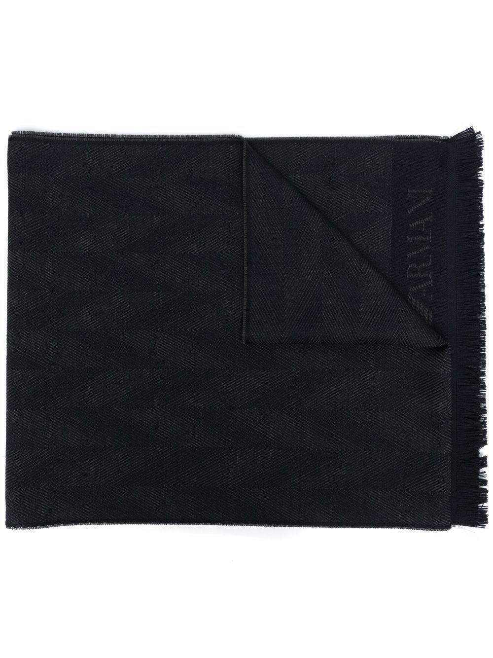 Sciarpa in lana logo allover