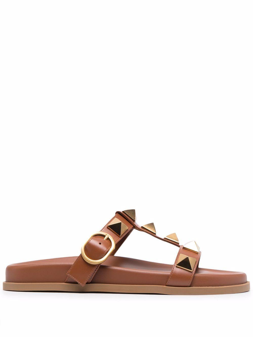 Valentino garavani sandals leather brown